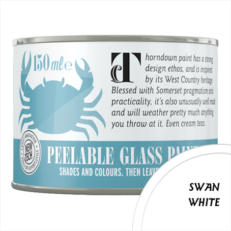Thorndown Swan White Peelable Glass Paint