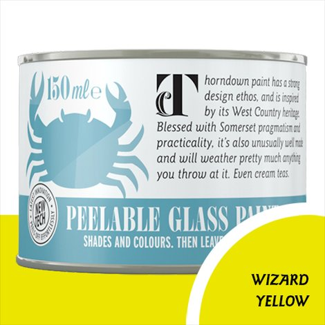 Thorndown Wizard Yellow Peelable Glass Paint