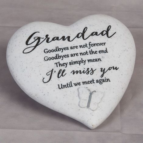 Thoughts Of You 'Grandad' Graveside Heart