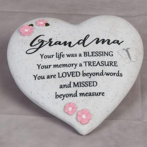 Thoughts Of You 'Grandma' Graveside Heart