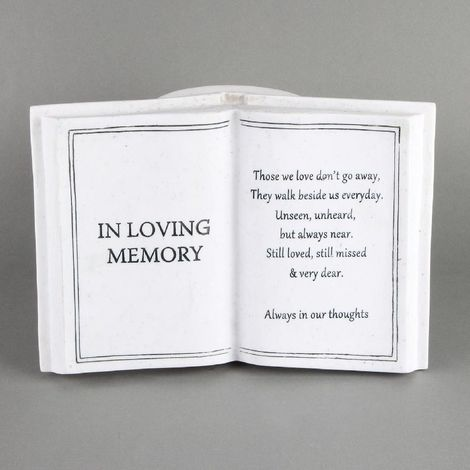 Thoughts Of You Graveside Book Vase - In Loving Memory
