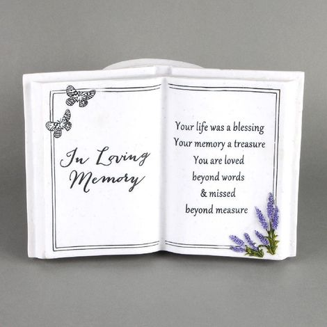 Thoughts Of You Graveside Book Vase Lavender