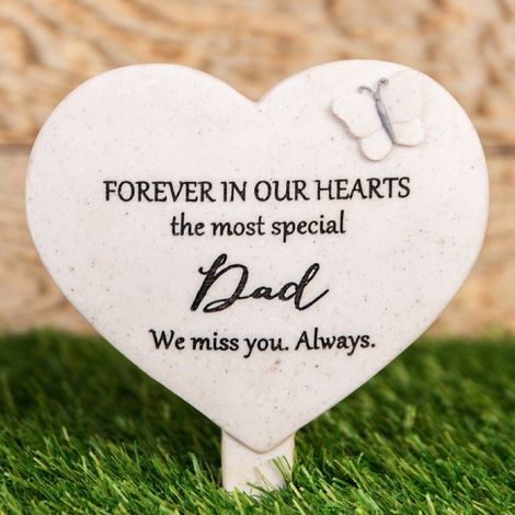 Thoughts Of You Heart 'Dad' Graveside Stake