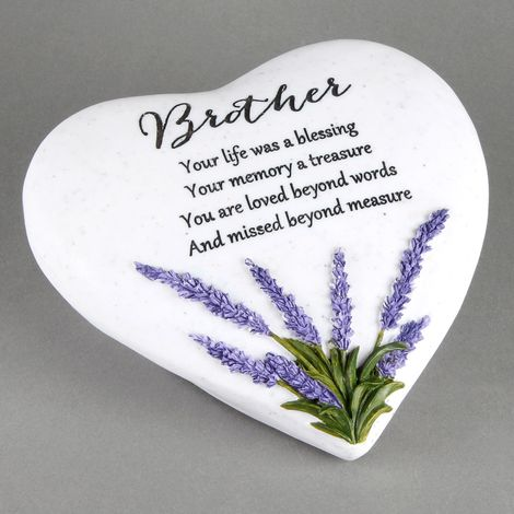 Thoughts Of You Heart Stone / Lavender - Brother