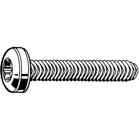 Thread rolling raised cheese head screw hexalobular Steel Zinc plated