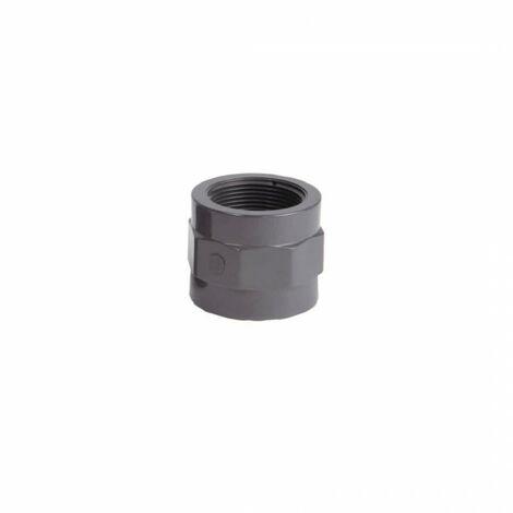 Threaded PVC socket to be glued D50