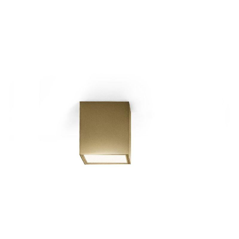 Homemania - Three Deckenlampe - Deckenleuchte - Quadratisch - von Wand zu Wand -Bronze aus Aluminium, 11 x 11 x 11 cm, 1 x LED, 10W, 595lm, 3000K,