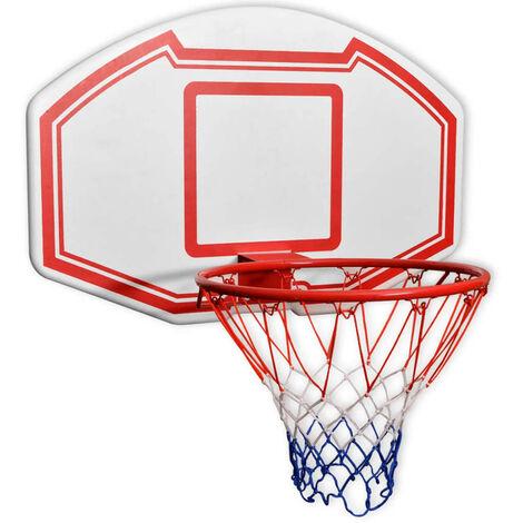 Three Piece Wall Mounted Basketball Backboard Set 90x60 cm - White
