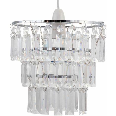 Three Tier Acrylic Crystal Light Shade