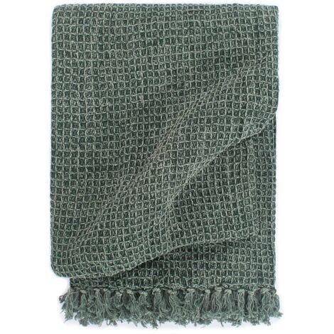 Throw Cotton 125x150 cm Dark Green