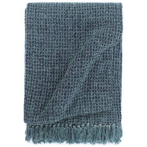 Throw Cotton 125x150 cm Indigo Blue