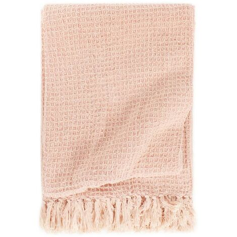 Throw Cotton 125x150 cm Old Pink