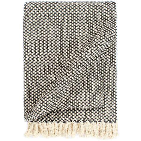 Throw Cotton 160x210 cm Anthracite