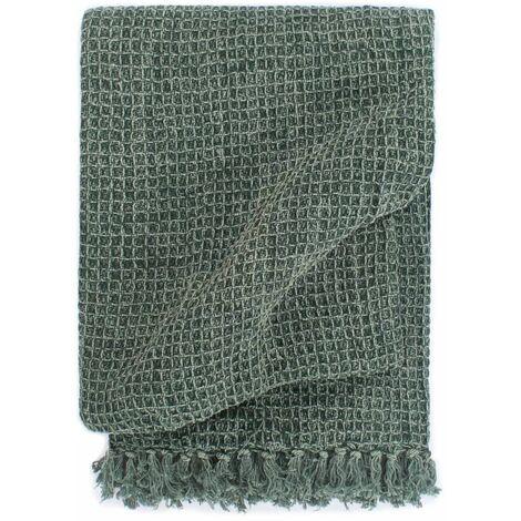 Throw Cotton 160x210 cm Dark Green