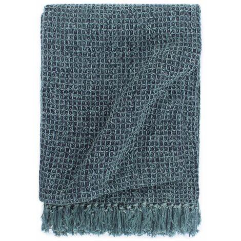 Throw Cotton 160x210 cm Indigo Blue
