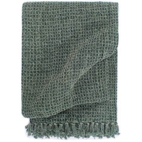 Throw Cotton 220x250 cm Dark Green - Green