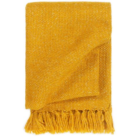 Throw Lurex 160x210 cm Mustard Yellow