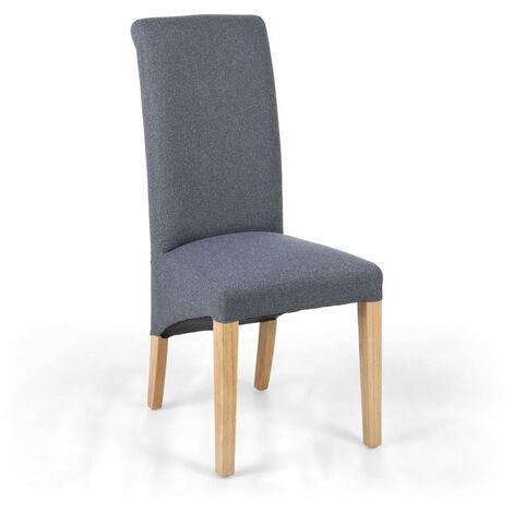 Thurma Linen Effect Dark Grey Chair