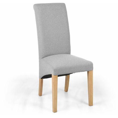 Thurma Linen Effect Light Grey Chair
