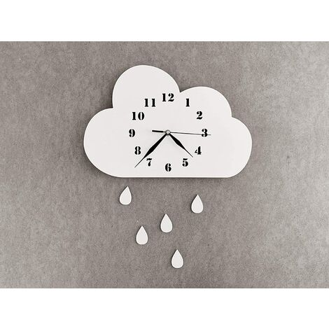 Ticking Quiet Kid's Wall Clock for Nursery, Silent Movement, Skandi Wall Decor