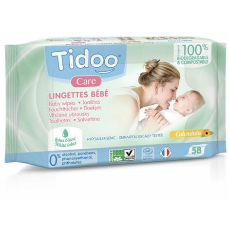 Tidoo Compostable Wipes - Natural Perfume - 58s - 93771