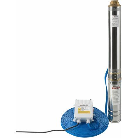 Tiefbrunnenpumpe 4 Zoll (1100 Watt, 4000 l/h) - Brunnenpumpe Tauchpumpe Gartenpumpe Wasserpumpe