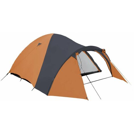 Tienda de campaña iglú 3 personas - naranja/negro - columna de agua 3000mm - transpirable - camping