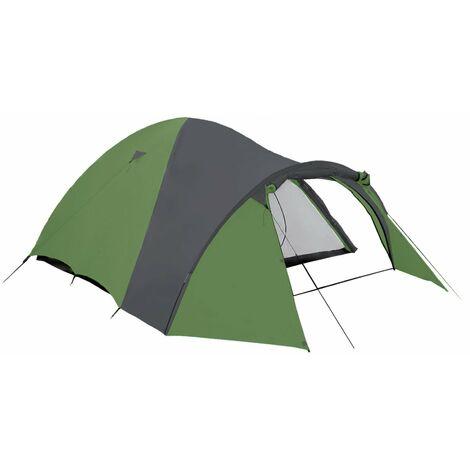 Tienda de campaña iglú 3 personas - verde/gris - columna de agua 3000mm - transpirable - camping
