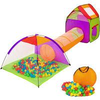 Tienda infantil con túnel, 200 bolas y bolsa
