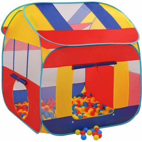 Tienda piscina de bolas con 300 bolas XXL - Multicolor