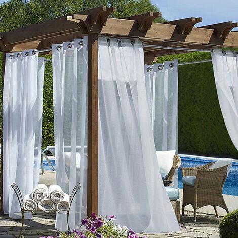 Tiendas de cortinas cortina cinta universal persianas largas cinta voile blanca transparente
