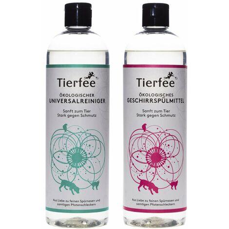 Tierfee-Set Ökologischer Universalreiniger + Geschirrspülmittel, je 500 ml
