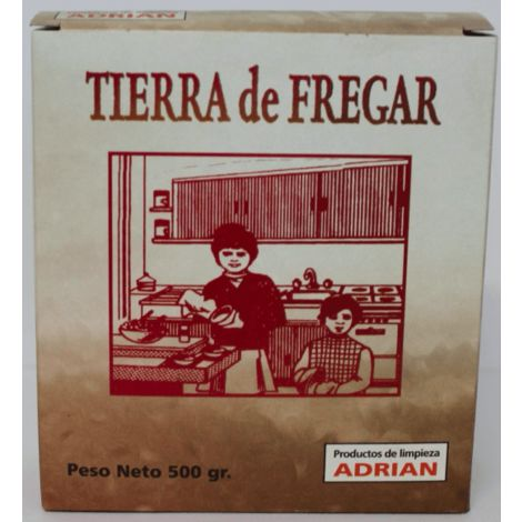 Tierra / arena para fregar paellas, cazucelas, suelo... Estuche 500 gr