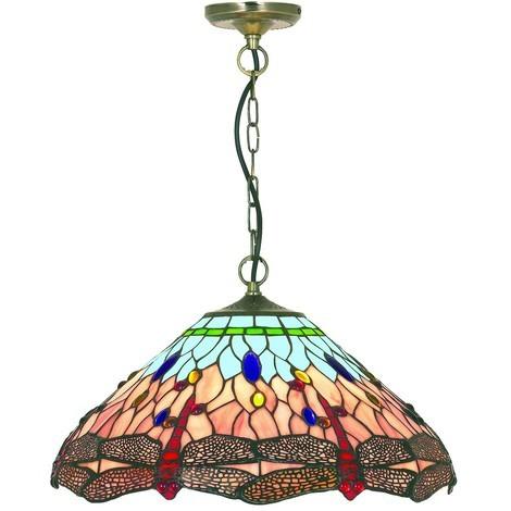 Tiffany Traditional Chain Ceiling Pendant By Washington Lighting