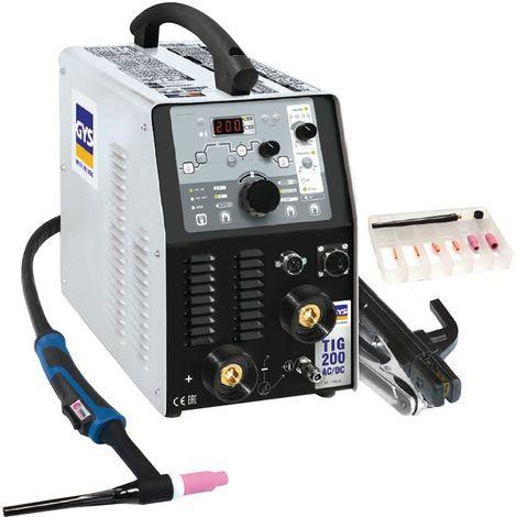 TIG-Schweißanlage TIG 200 AC/DC HF FV m.Zub.10-200 A gasg.GYS