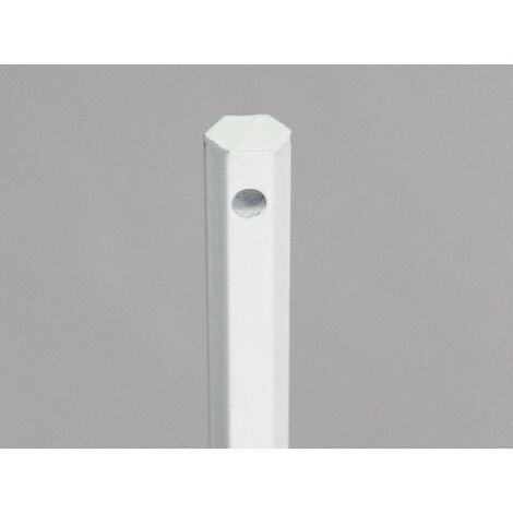 Tige seule hexagonale diamètre 10 mm L120 cm, acier laqué blanc, pour volet manoeuvre treuil