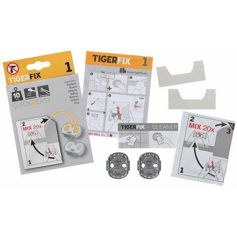 Tiger Mounting Material TigerFix Type 1 Metal 398730046 - Silver