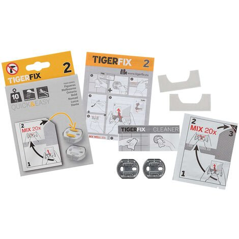 Tiger Mounting Material TigerFix Type 2 Metal 398830046 - Silver