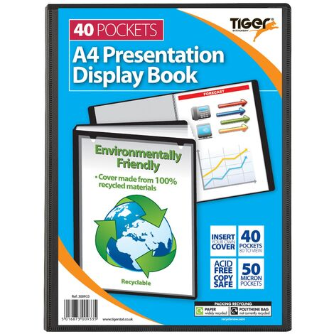 Tiger Stationery Display Book (One Size) (Black)