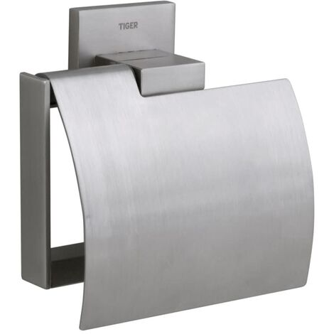 Tiger Toilet Roll Holder Items Silver