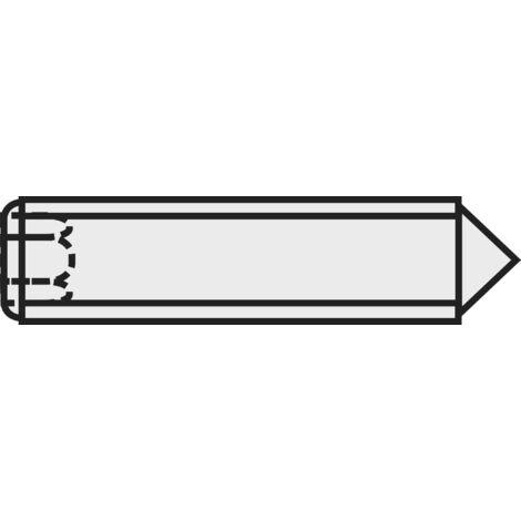 Tiges filetées à six pans creux et pointe DIN 914 C20613