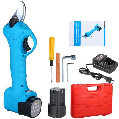 Tijeras de podar electricas inalambricas profesionales, podadora de ramas de arbol, con kit de mantenimiento