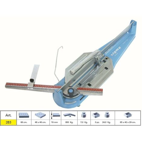 TILE CUTTER MACHINE MANUAL PROFESSIONAL SIGMA 2B3 SERIE TECNICA CUTTING LENGHT 6