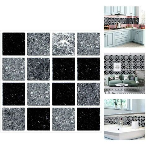 """main image of """"Tile Stickers for Bathroom and Kitchen, 30 Pieces Tile Stickers Waterproof Wall Sticker, Adhesive Tile Stickers for Wall Tiles Decor Size 10x10cm (Msc066) SOEKAVIA"""""""
