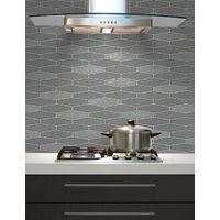 Tile Wallpaper Brick Effect Glitter Washable Vinyl Kitchen Bathroom Charcoal