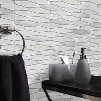 Tile Wallpaper Brick Effect Glitter Washable Vinyl Kitchen Bathroom White Black