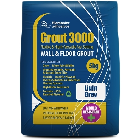 Tilemaster Grout 3000 - Light Grey (5KG)