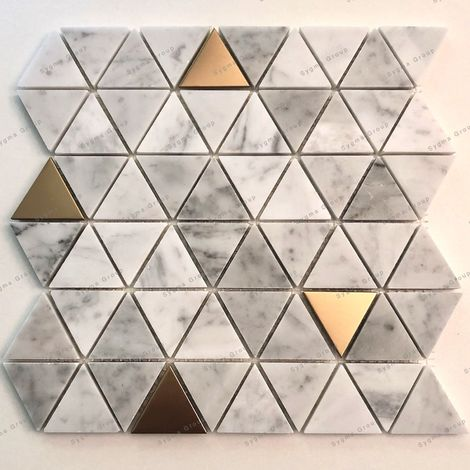 Tiles and mosaics in stone and metal for floor or wall VOLO