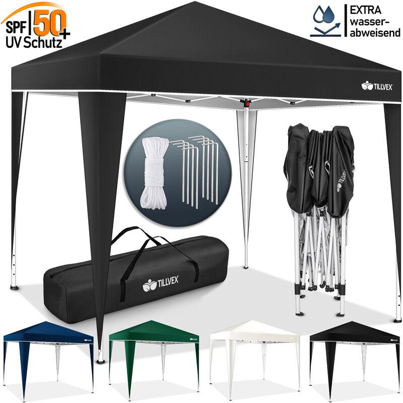 Tonnelle de Jardin 3 x 3 m Pliable Bleu | Tente Pliante de Jardin à Hauteur réglable | Auvent Pliable pour Camping, Festival, Plage, Jardin |