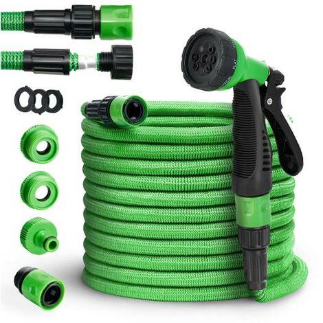 tillvex® Premium Gartenschlauch Flexibler Wasserschlauch dehnbarer Flexischlauch